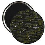 Black Bullhead catfish School Pattern f Magnet
