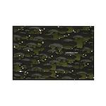 Black Bullhead catfish School Pattern f Rectangle