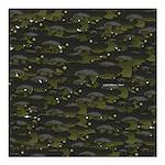 Black Bullhead catfish School Pattern f Square Car
