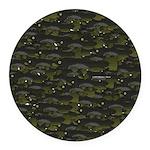 Black Bullhead catfish School Pattern f Round Car