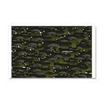 Black Bullhead catfish School Pattern f Car Magnet