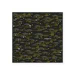 Black Bullhead catfish School Pattern f Sticker