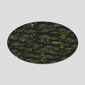 Black Bullhead catfish School Pattern f Wall Decal