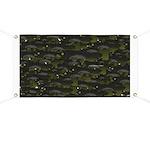 Black Bullhead catfish School Pattern f Banner