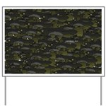 Black Bullhead catfish School Pattern f Yard Sign