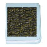 Black Bullhead catfish School Pattern f baby blank