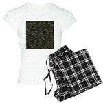 Black Bullhead catfish School Pattern f Pajamas