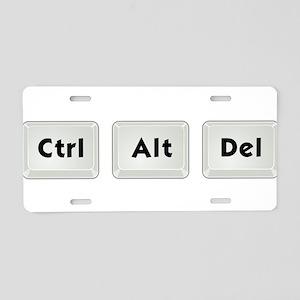 Ctrl Alt Del Aluminum License Plate