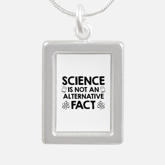 Science Silver Portrait Necklace