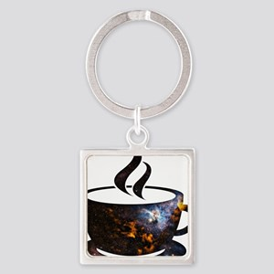 Cosmic Coffee Cup Keychains
