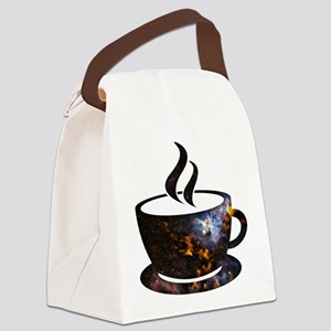 Cosmic Coffee Cup Canvas Lunch Bag