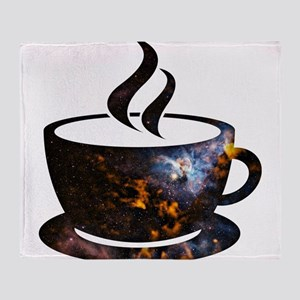 Cosmic Coffee Cup Throw Blanket