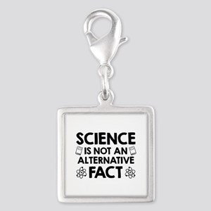Science Silver Square Charm