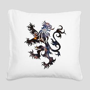Cosmic Lion Square Canvas Pillow
