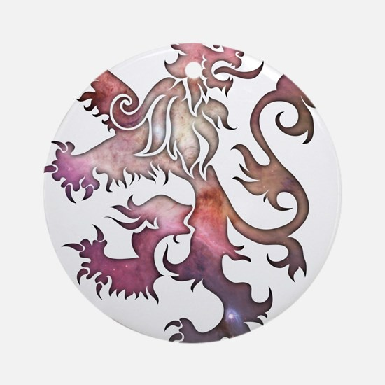 Heraldry Lion Ornament (Round)