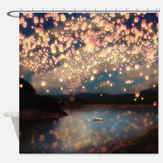 Funny Castle in the clouds Shower Curtain