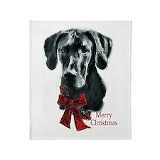 Great Dane Christmas Throw Blanket
