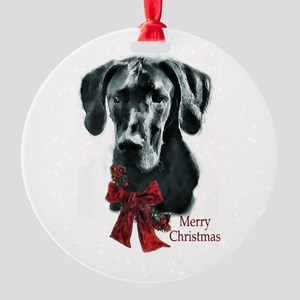 Great Dane Christmas Round Ornament