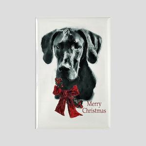 Great Dane Christmas Rectangle Magnet (10 pack)