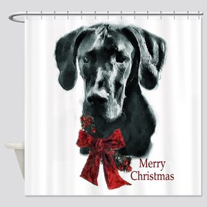 Great Dane Christmas Shower Curtain