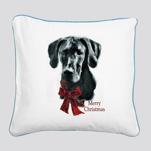 Great Dane Christmas Square Canvas Pillow