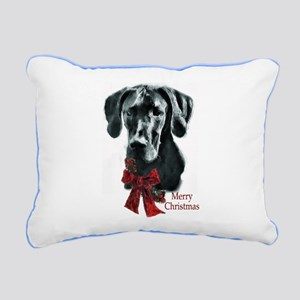 Great Dane Christmas Rectangular Canvas Pillow