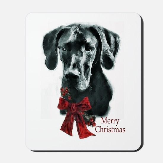 Great Dane Christmas Mousepad