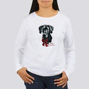 Great Dane Christmas Women's Long Sleeve T-Shirt