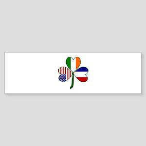 Shamrock of France Sticker (Bumper)
