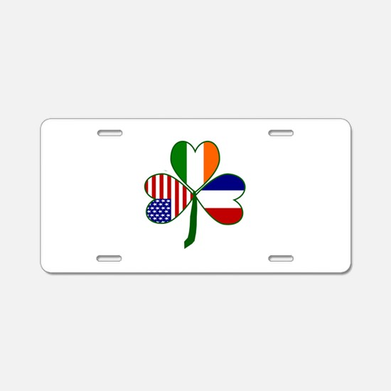 Shamrock of France Aluminum License Plate