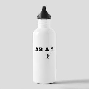 AS A KITE STICK FIGURE Water Bottle