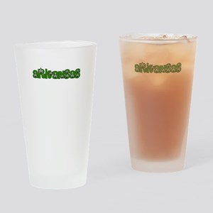 ARKANSAS IN MARIJUANA FONT Drinking Glass