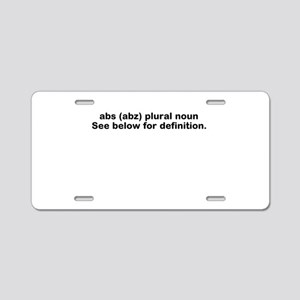 Abs definition Aluminum License Plate