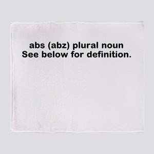 Abs definition Throw Blanket