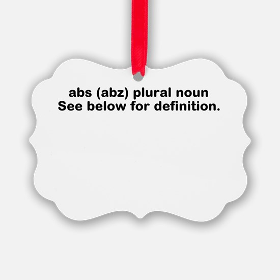 Abs definition Ornament