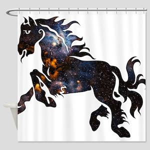 Cosmic Horse Shower Curtain