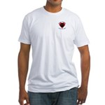 Touch Your Heart (3) Fitted T-Shirt