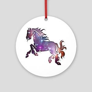 Galaxy Horse Ornament (Round)