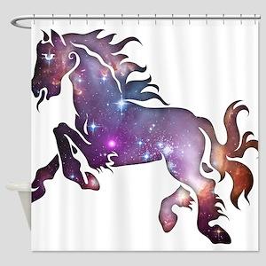 Galaxy Horse Shower Curtain