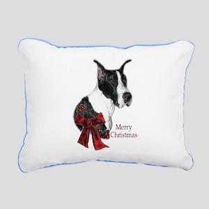 Great Dane Christmas Rectangular Canvas Pillow