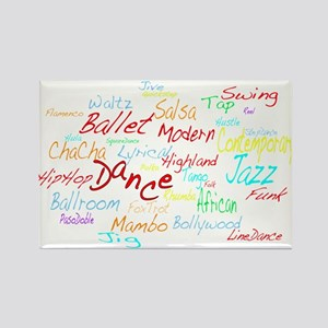 Cheerful Dance Cloud Rectangle Magnet