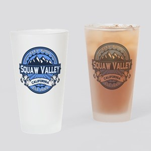 Squaw Valley Blue Drinking Glass