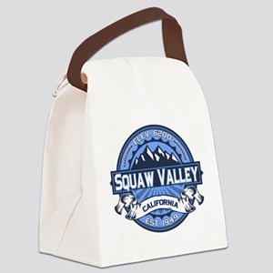 Squaw Valley Blue Canvas Lunch Bag