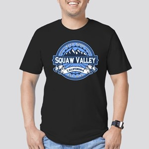 Squaw Valley Blue Men's Fitted T-Shirt (dark)