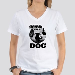 I'd Rather Be Hiking With My Dog Scene T-Shirt