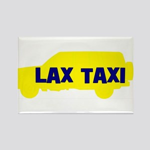 Lax Taxi Yellow Rectangle Magnet
