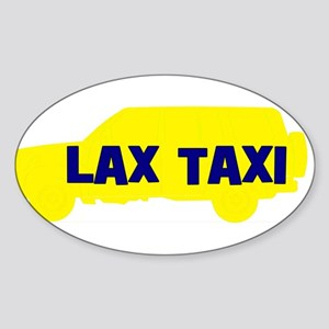 Lax Taxi Yellow Oval Sticker