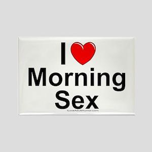Morning Sex Rectangle Magnet