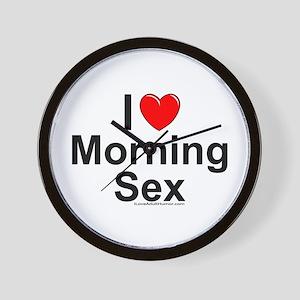 Morning Sex Wall Clock