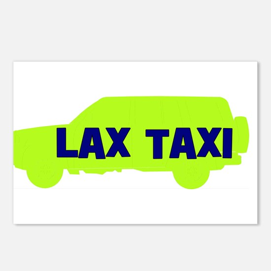 Lax Taxi Green Postcards (Package of 8)